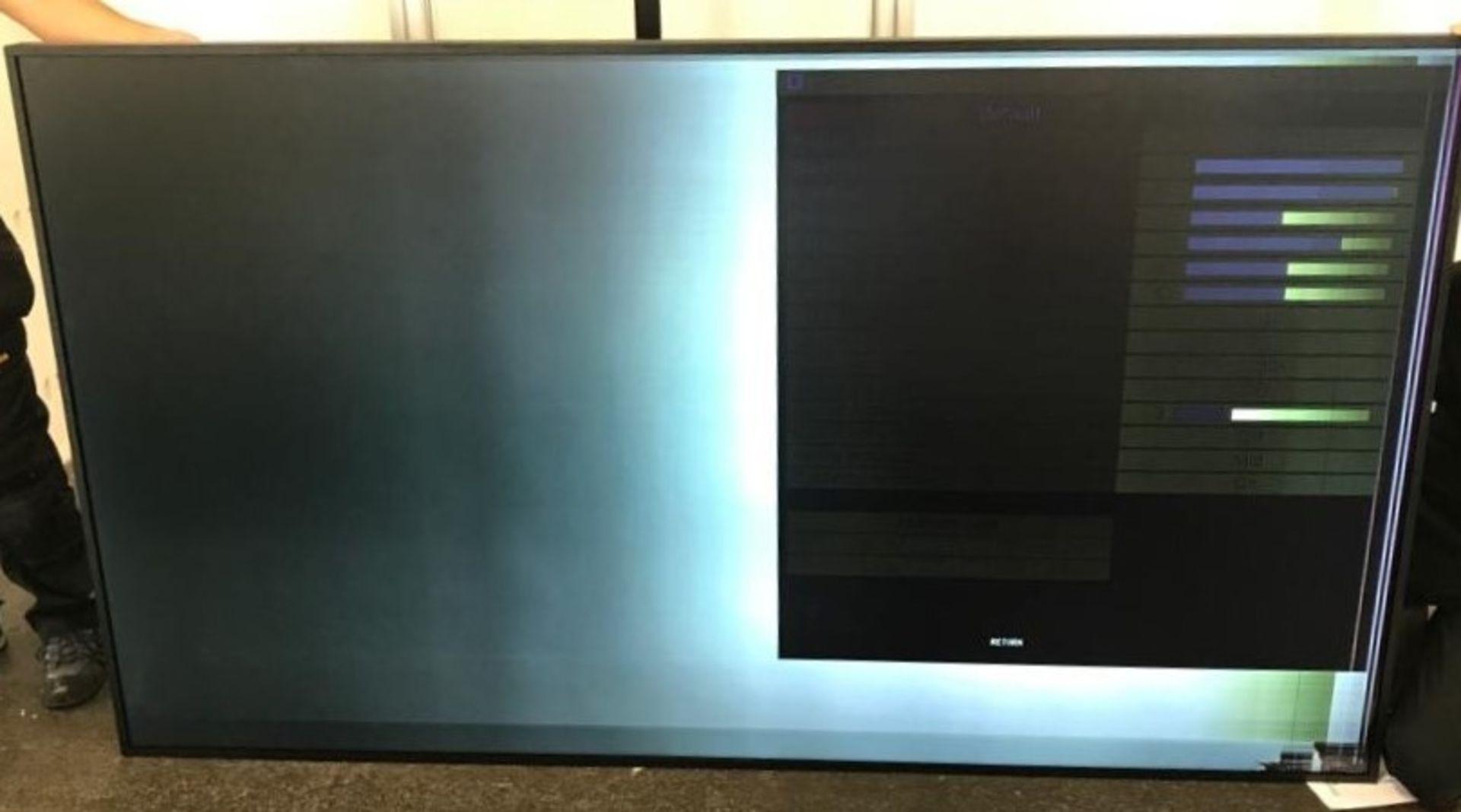 A Panasonic TH-98SQ1W 98in Class Large Format 4K Digital Display (damaged screen needs replacing,