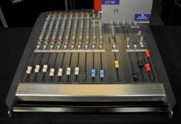 An Allen and Heath PA12 Sound Mixer; 12 in, 2 out, full working order, reasonable condition, one