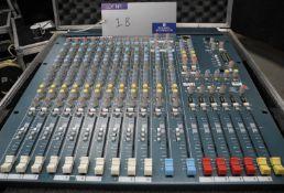 An Allen and Heath MixWizard WZ3 14:4:2 Sound Mixer in flight case, full working order, reasonable