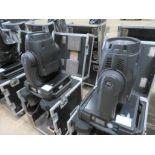 A Pair of Robe Colorwash 700E AT Moving Head Lights with flight case, 2021 PAT test, used lamp,