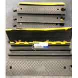 4 x 1m CSL 3 Channel Cable Ramps-located at Chaps Productions, 33 Banstead Road, Caterham, Surrey,