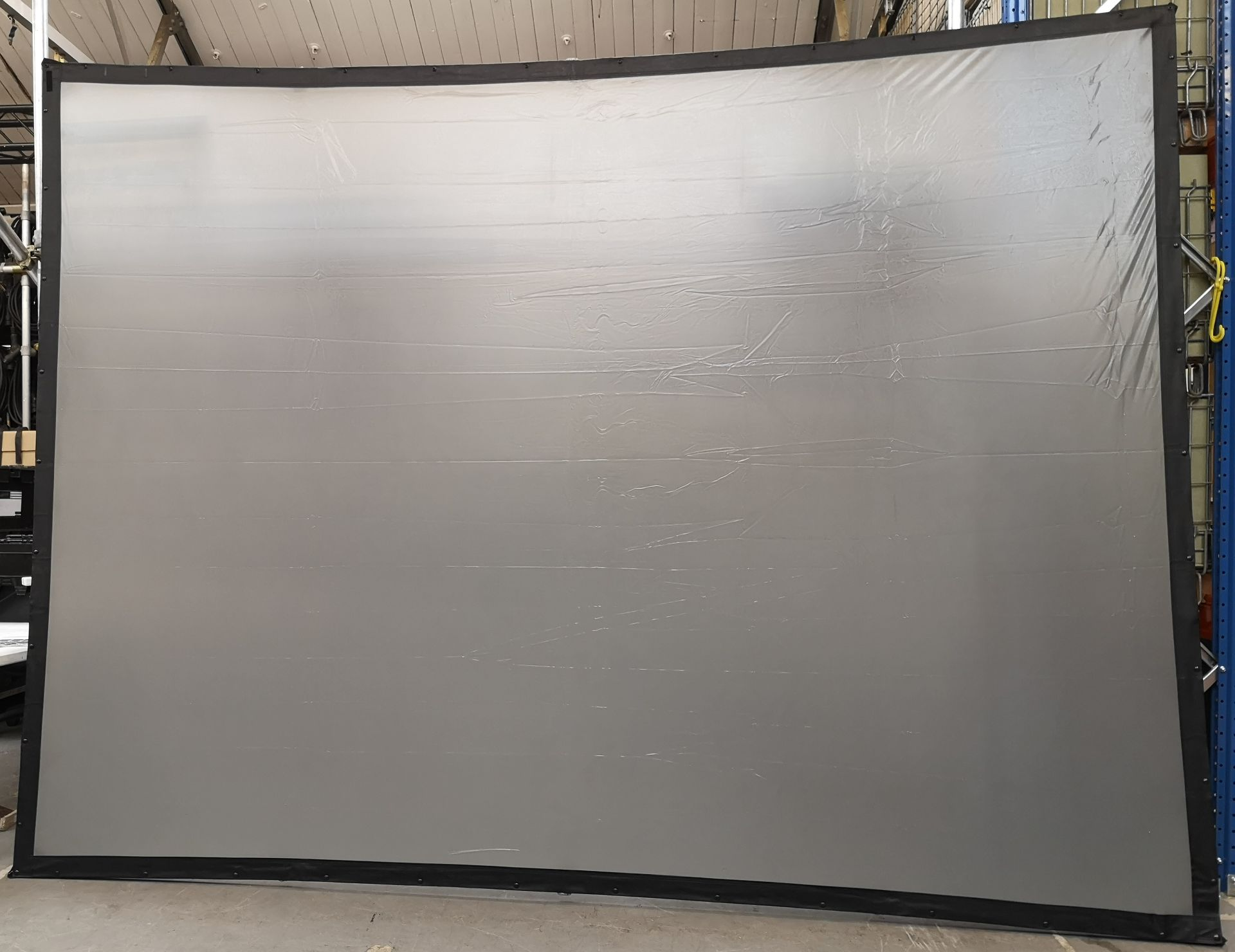 A DA-LITE 12ft x 9ft Rear Projection Fastfold Screen with frame, legs, bolts, screen surface, bag - Image 5 of 10