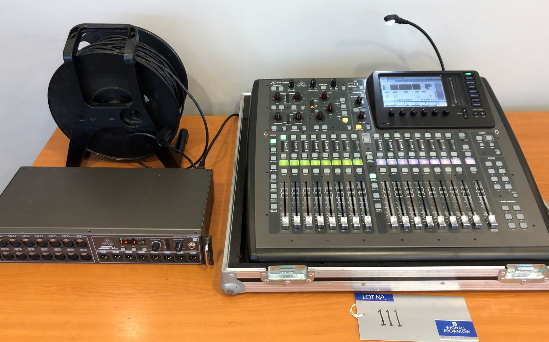 A Behringer Midas X32 Compact Digital Mixing Console with Behringer Midas S16 I/O Stage Box, 50m
