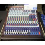 A Midas Venice 160 Analogue Sound Desk with flight case, 16 in 8 out, immaculate condition, full