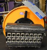 An Audio XLR Multicore Reel; VDC 12 send, 4 return, approx. 25m length, untested-located at PR Live,