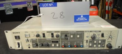 A Sony CCU-M5P Camera Control Unit with IEC-13A Power Cable, untested, used condition-located at