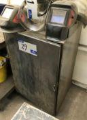 A Welded Steel Heavy Duty Cabinet, 600mm x 600mm x 1050mm h.