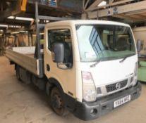 A Nissan NT400 Cabstar 35.14 LWB DCI Dropside Truck Reg. No.YX64WRZ, first registered 30/9/2014,