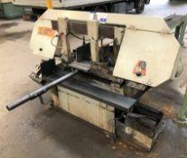 A Karl Muller HBS250 Horizontal Metalworking Bandsaw No.2000 (1996), 320mm capacity, 3 phase.