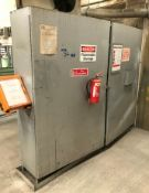 A Quantity of Paints, Primers and Thinners with Heavy Duty Welded Steel Inflammables Cabinet, 96in w
