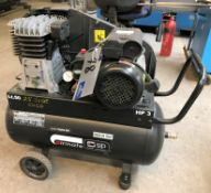 An SIP airmate TN3/50-SRB Mobile Receiver Mounted Air Compressor (2015), 50 litre, 3HP, 240v.