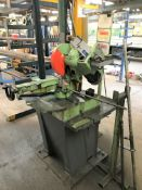 A Pedrazzoli Troncatrice Brown 300 MRM Metalworking Cut Off Saw No.023343 (1996), 3 phase on steel