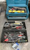A Quantity of Hand Tools and Equipment in two tool boxes.