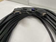 4 VGA Male to VGA Male Video Leads, 20m (ex hire, used condition)-located at Pro Event Solutions,