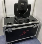 4 BEAM Model QF-2017B 200W Moving Head Spot Lights (ex hire, used condition)-located at Pro Event