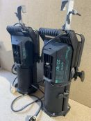 2 Strand Quartet 22/40 500w/650w Zoom Profile Spot Lights; both lamps working when tested and come