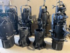 6 ETC Source 4 Ellipsoidal Profile Spot Lights with Lenses: all lamps working when tested (condition