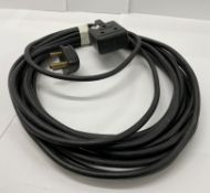 8-15 amp Extensions, PVC Cable, 10m, Untested (ex hire, used condition)-located at Pro Event