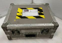 A Flight Case, 51cm w x 41cm dp x 24cm h (external), 46.5cm w x 37cm dp x 20cm h (internal without