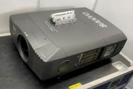 A Sanyo PROxtraX PLC XF-46E Multiverse Projector with flight case, 1024 x 768, no lens (spares or