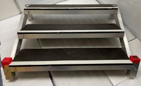 2 Stage Treads, fit LiteDeck, 2ft high (ex hire, used condition, some repairs may be required)-