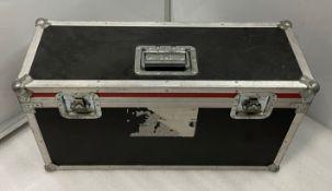 A Flight Case, 71cm w x 26cm dp x 40cm h (external), 67cm w x 21.5cm dp x 35cm h (internal without