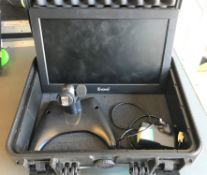 An Eyoyo Model 1116 11.6in LED Monitor with stand, PSU and carry case (located at Unit 2, Dewhurst