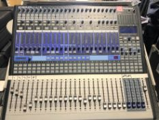 A PreSonus Studiolive 24.4.2 AI 24 channel Digital Performance and Recording Mixer with Flight Case,
