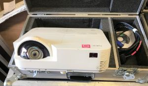 An NEC NP-M332XS DLP Projector with flight case, 620mm x 340mm x 195mm (located at Unit 2,
