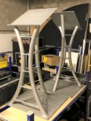 A Pair of Matching Tubular Steel Lecturns, 1m h (located at Unit 2, Dewhurst Row, Bamber Bridge,