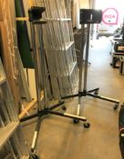 2 Unicol Mobile Heavy Duty Monitor Stands, 1.6m h, one with Unicol Bracket (located at Unit 2,