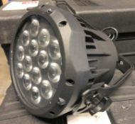 4 Chauvet COLORado 1 Tri Tour LED Wash Lights with Flight Case, 755mm x 490mm x 365mm (located at