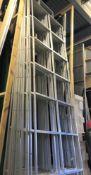 A Quantity of Alloy Stage Side Frame Grid Sets: 5-4m x 1m, 6-3.5m x 1m, 12-2.5m x 1m, 4-1.5m x 1m,