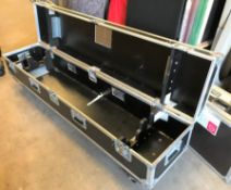 A Mobile Flight Case (for heavy duty tripods), 1855mm x 400mm x 480mm (located at Unit 2, Dewhurst