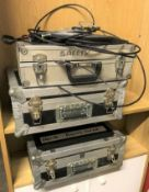 Assorted Flying Gear, Set Steels, and Stage Safety Equipment in 3 Flight Cases (located at Unit 2,