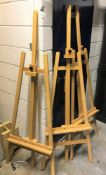 3 Wooden Artists Easels (located at Unit 2, Dewhurst Row, Bamber Bridge, Preston, Lancashire, PR5