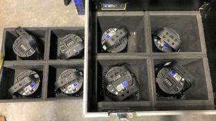 8 Chauvet COLORado Tri Tour LED Wash Lights with Mobile Flight Case, 800mm x 535mm x 830mm (