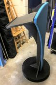 3 Circular Lecturns: 2-990mm h, grey; 1-1060mm h, blue and black (located at Unit 2, Dewhurst Row,