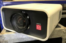A Sanyo PLC-XP100L PROxtraX Multiverse Projector No.G1311125 with Short Throw On Axial Lens, 0.8:1