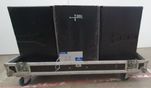 A pair of d+b audiotechnik Black Q7 Speakers with Safety Bonds-100KG, Q7 Yoke Brackets and ABS