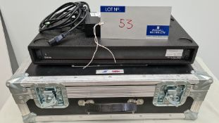 An Extron DVI DA Plus SERIES 1:8 Distribution Amplifier with psu and 5star flight case (delivers
