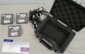 3 Blackmagic Design Mini Converters SDI to HDMI with psu's and case.