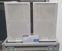 A Pair of White Nexo PS10 Full Range Loudspeakers with 5star mobile flight case.