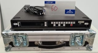 A Barco PDS-902 3G Video Switcher with IEC-13A Power Cable and 5star slim flight case (excellent
