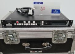 A Barco PDS-902 3G Video Switcher with IEC-13A Power Cable and 5star flight case (excellent