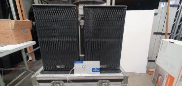 A Pair of Black Nexo PS10 Full Range Loudspeakers with 5star mobile flight case.