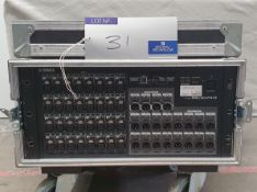 A Yamaha Rio 3224-D Stage Box, 32 Inputs, 16 Outputs No.BAWN01014 with 5star mobile flight case.