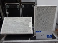 A Pair of White Nexo PS8 Full Range Loudspeakers with 5star mobile flight case, 400mm x 750mm x