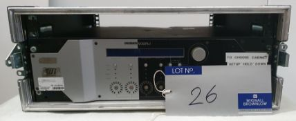 A Nexo NXAMP 4x1 Digital Power Amplifier with flight case (fully tested and working).