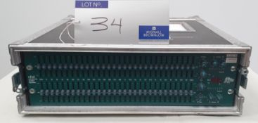 A BSS FCS966 oPal constant Q Graphic Equaliser with flight case, 530mm x 520mm x 180mm.
